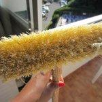 dirty broom