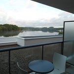 Vue de notre chambre sur l'étang de Ter 1