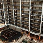 Our room overlooking atrium/lobby