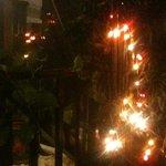 luces decorando el local