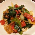 Nouilles sautées au porc et légumes