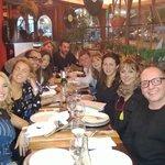 Con el equipo en Fellini