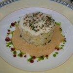 brandade de merlu et pommes de terre au basilic