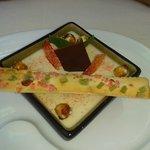 pana cotta au chocolat dulcey et galette charentaise