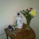 We got flowers with our tea and coffee in our room!