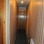 Smala trånga korridorer till rummen
