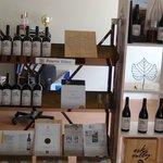 Wine display in tasting room