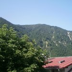 View from balcony - top of that Mt is where photo 2 was taken from
