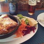 Lasagna vegetariana del día.