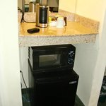Tea/Coffee maker, Microwave, Fridge