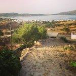 View from Villa Mina down towards Adamas