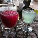 'Amorita' margarita and the house margarita. Both good!