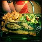 Meal at local restaurant Au Bureau