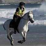 Horse riding on Keel Beach
