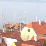 Gudhjem havn fra Terrassen