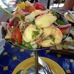 Wonderful Ceviche de la Casa!