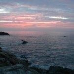 Sunrise above the Portkerris dive site