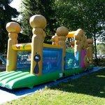bouncy castle play area