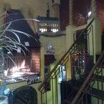 grill au feu de bois en salle