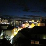 Het uitzicht bij avond