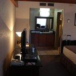 Vista interna do apartamento