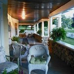 An expansive porch where you can really unwind