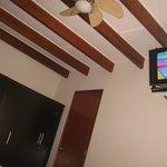 ventilador y tv