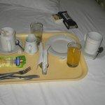 Desayuno a la habitacion sin costo
