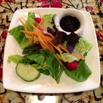 House Salad with Ginger Soy dressing.