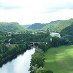 Vistas desde el castillo de Beynac
