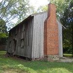 Original fireplace and slave quarters