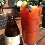 Bloody Mary with Rhinelander chaser