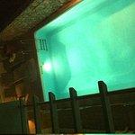 vista da piscina da nossa janela