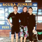 Me with my wife & our buddy instructor