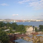 View of the Bosphorus from the terrace