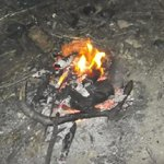 The fire that burnt no grass.