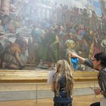 Context Tours docent Lisa Cherkerzian and our daughter in the Louvre.