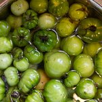Green tomato chutney on the go