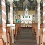 Painted Church - striped columns