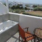 balcone con vasca idromassaggio