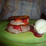 dessert idem 3 mais avec fraises