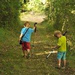 Chemin de randonnée en bordure de propriété