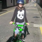 My daughter on the BMX