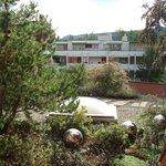 Dach-Terrasse vor unserem Zimmer