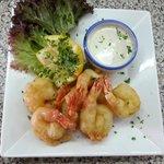 Fresh prawns tempura