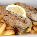 Grilled mackerel and chips
