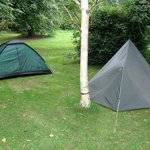 Our camp pitch at Penpont