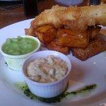 "Main Course Fish & ""Proper"" Chips, Tartar Sauce, & Peas"