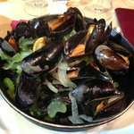 Mussels in a white wine sauce