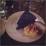 dark chocolate torte with cherry filling